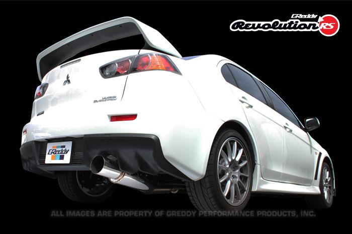 Greddy Revolution RS Exhaust Mitsubishi Lancer Evolution X 08-15
