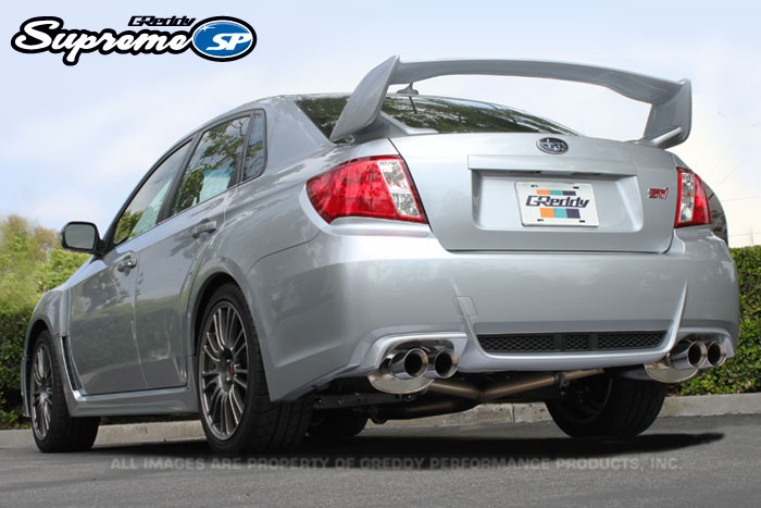 GReddy Supreme SP Exhaust for 11-14 Subaru WRX / STi Sedan