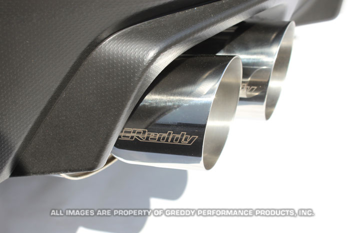 supreme sp exhaust greddy dual muffler cat back subaru modbargains modauto 10168202